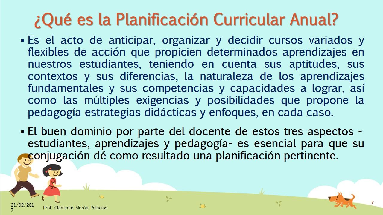 La Planificación Curricular, con el Currículo Nacional 2017 (7 ...
