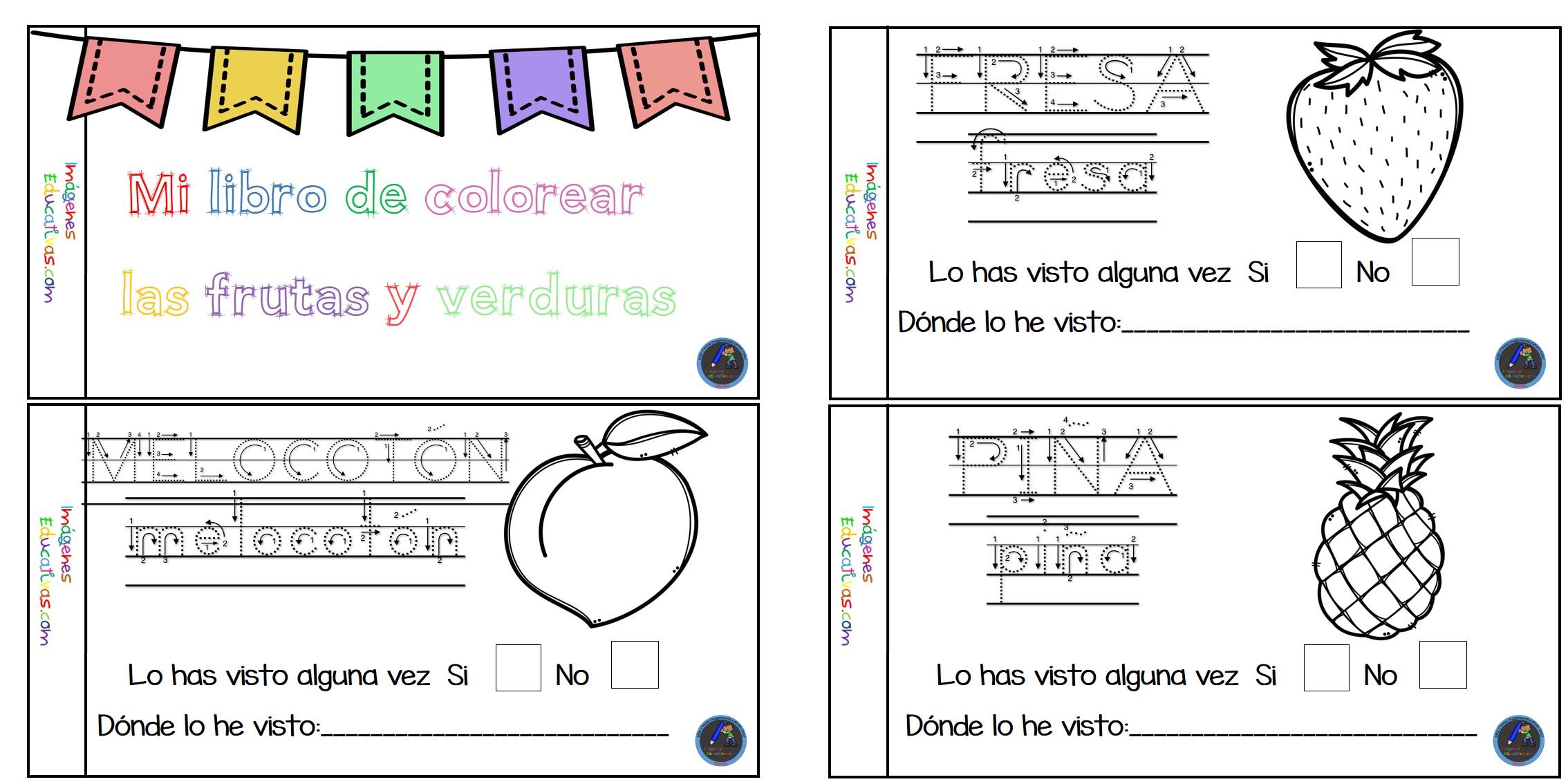 Dibujos Para Colorear Frutas Y Verduras Imagesacolorierwebsite