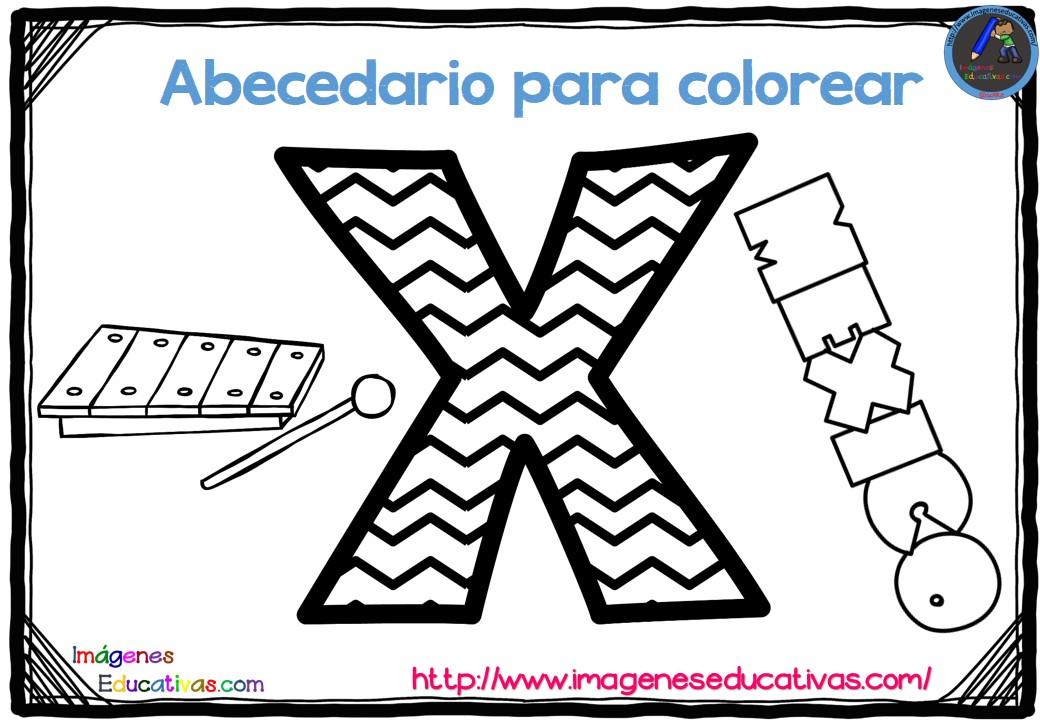 Alfabeto Para Colorear: Abecedario Para Colorear Listo Para Descargar E Imprimir