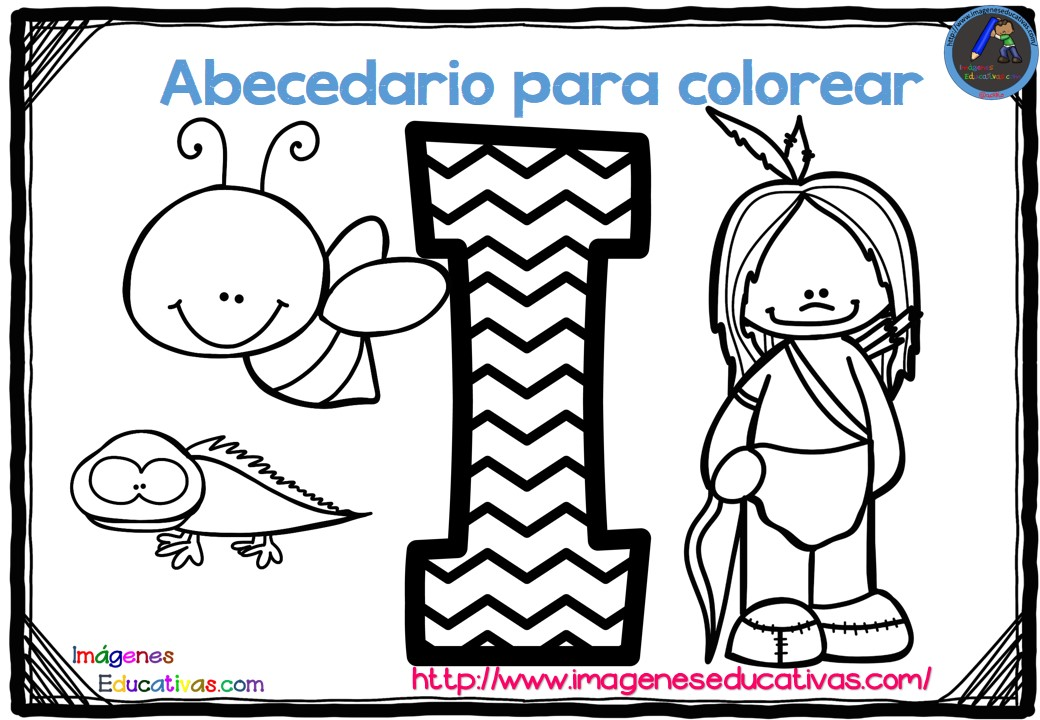 Magnífico Alfabeto Preescolar Colorear Páginas Para Imprimir ...