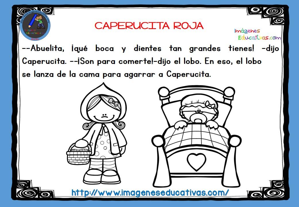 Dibujos De Caperucita Roja Para Colorear E Imprimir: CAPERUCITA ROJA B-N (9)