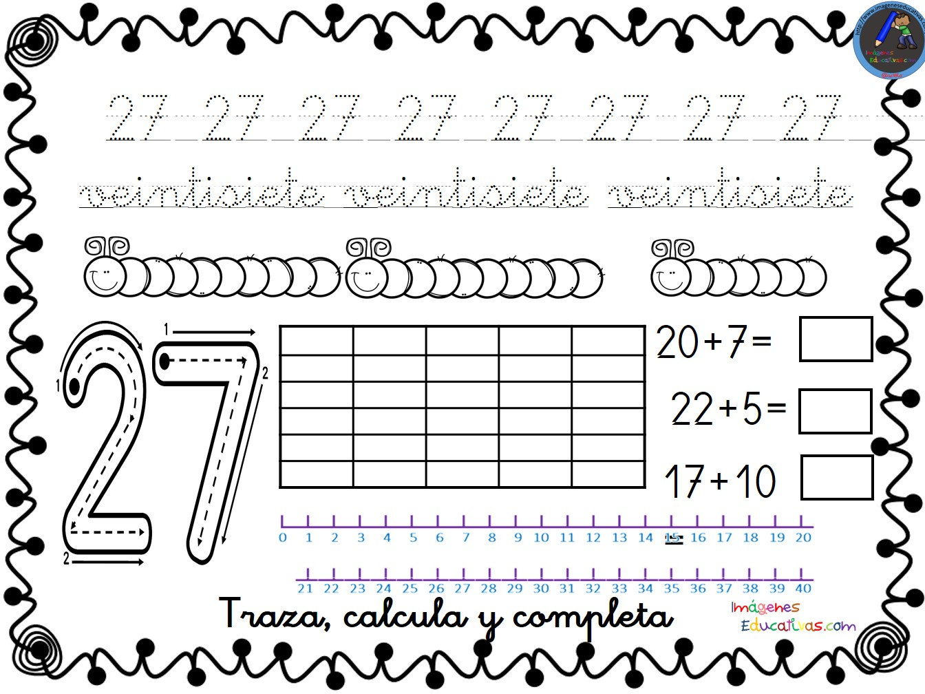 Numero 13 Para Colorear: Colección De Fichas Para Trabajar Los Números Del 1 Al 30
