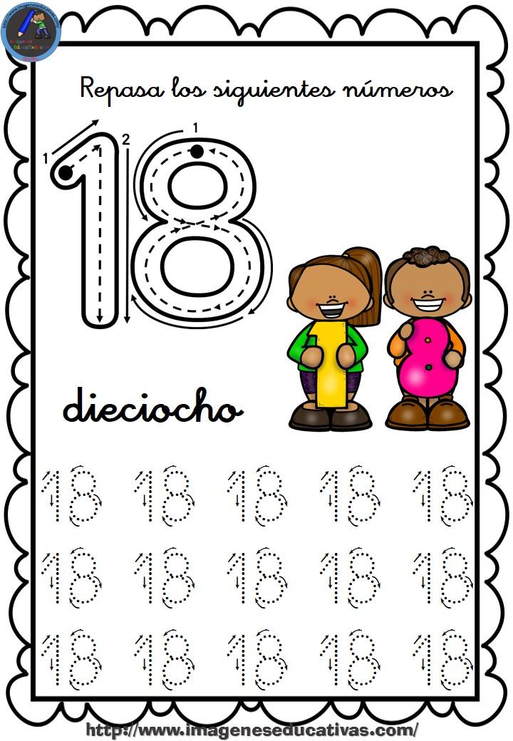Colorear Al Del Numeros 10 Para 1