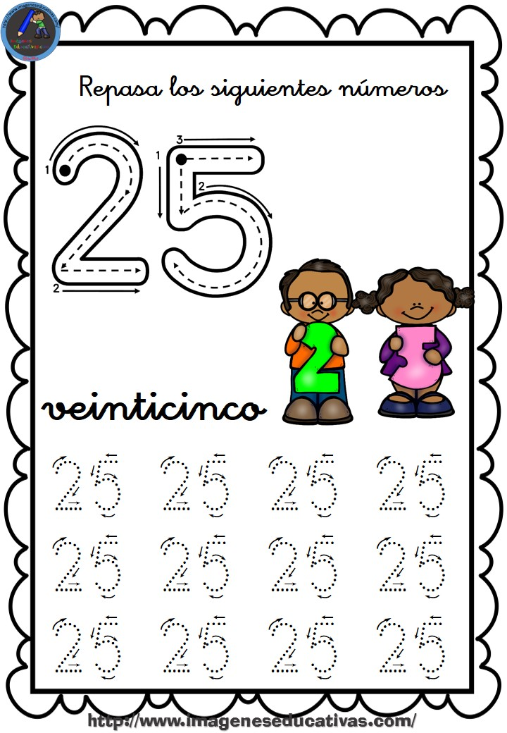 25 30 1 Microsoft W: Completo Cuaderno Para Repasar El Trazo, Números Del 1 Al