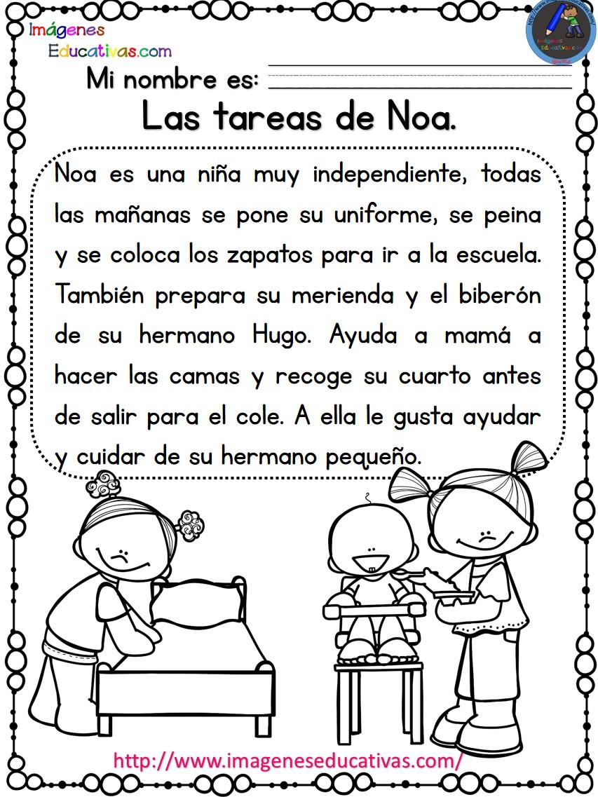 Lecturas comprensivas para Primaria Noa y Hugo (1) - Imagenes Educativas