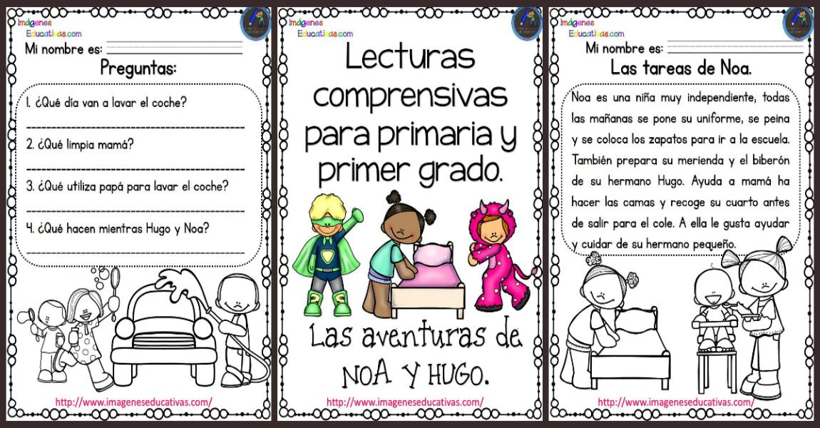 Lecturas comprensivas para Primaria Noa y Hugo PORTADA - Imagenes ...