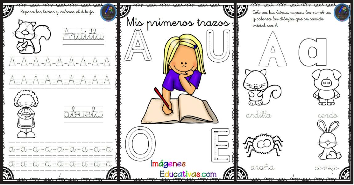 Mis Primeros Trazos Con Las Vocales Imagenes Educativas