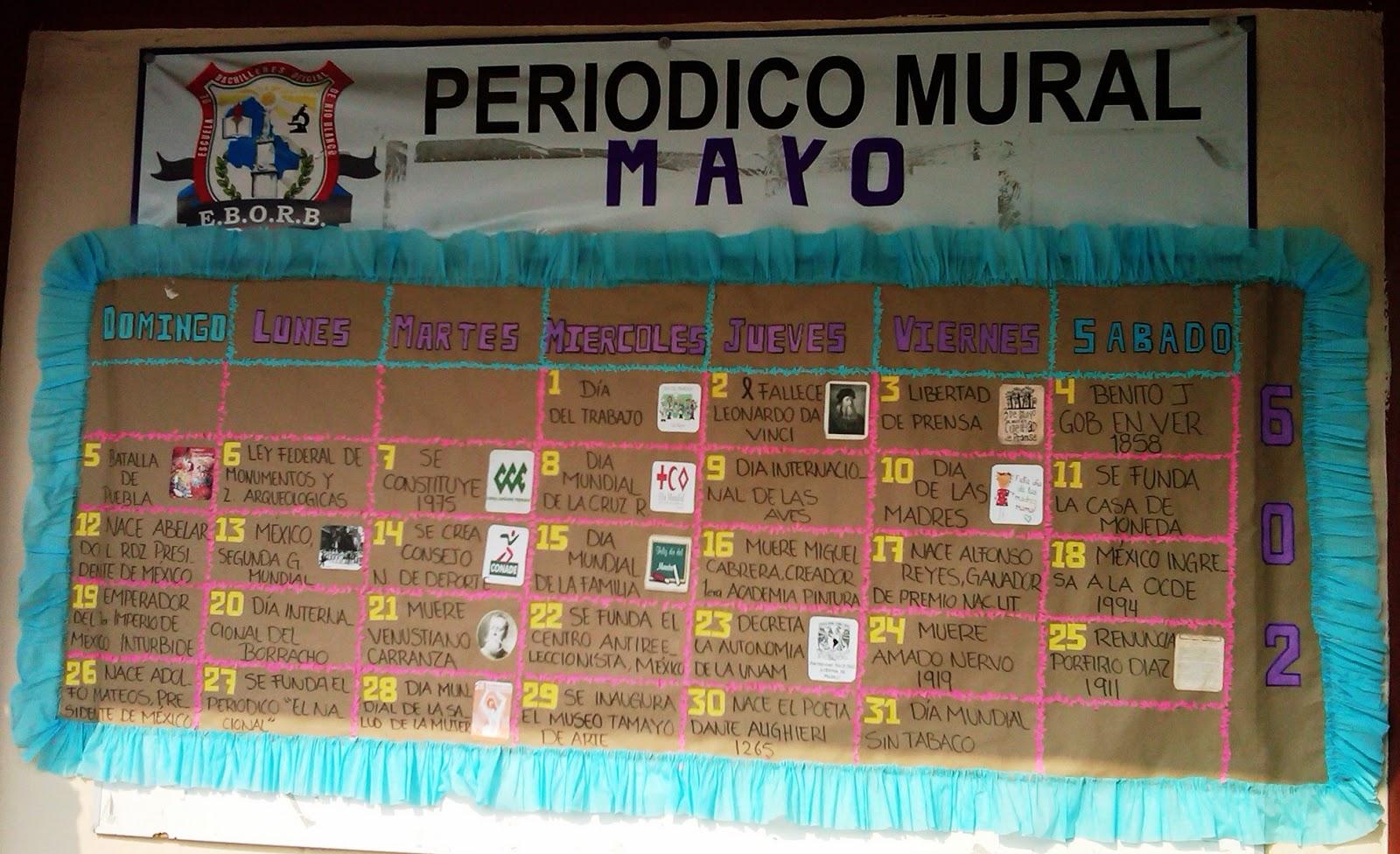Peri dico mural mayo mes de las madres 23 imagenes for El periodico mural