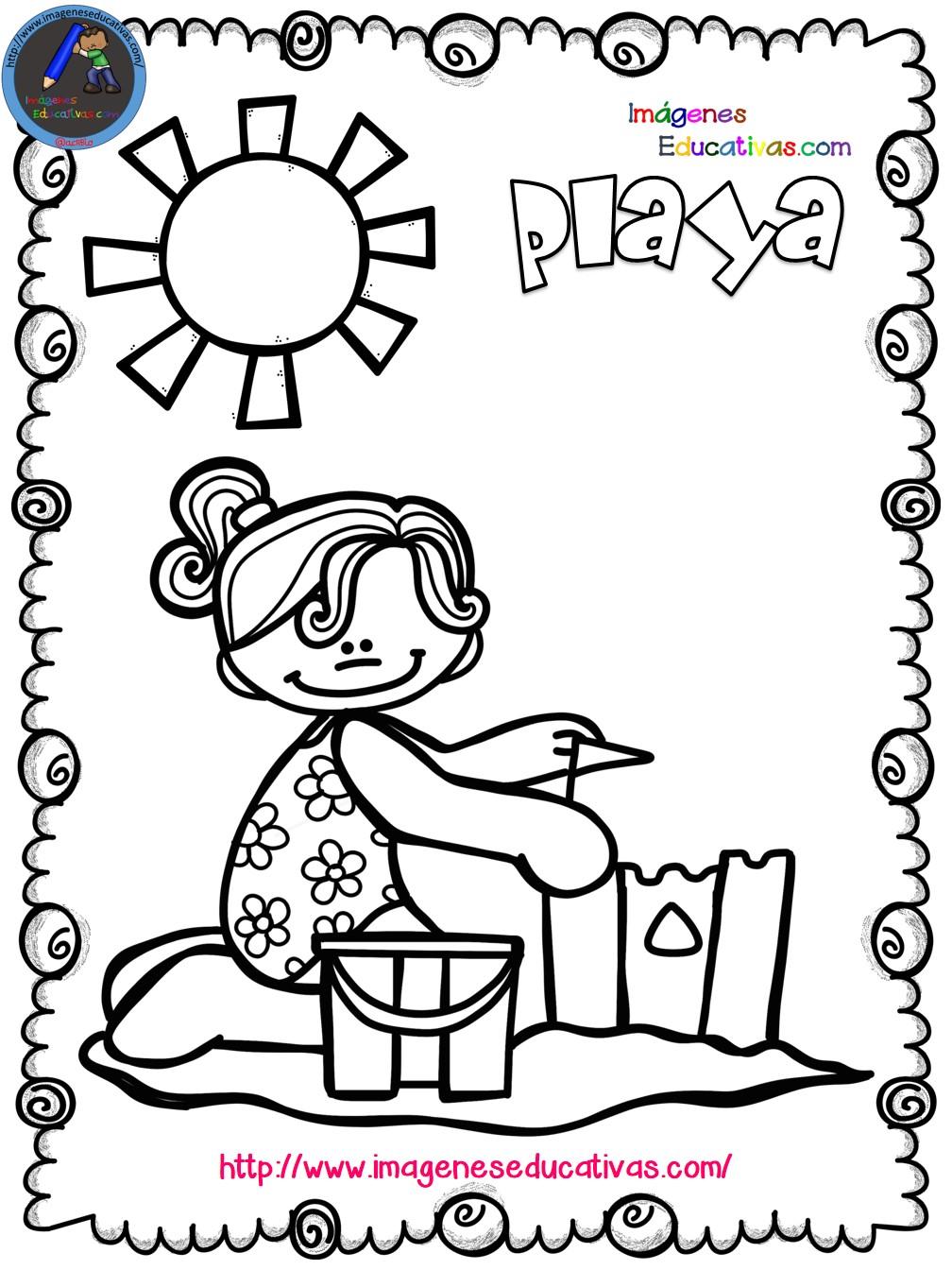 Mi libro para colorear en verano (11) - Imagenes Educativas