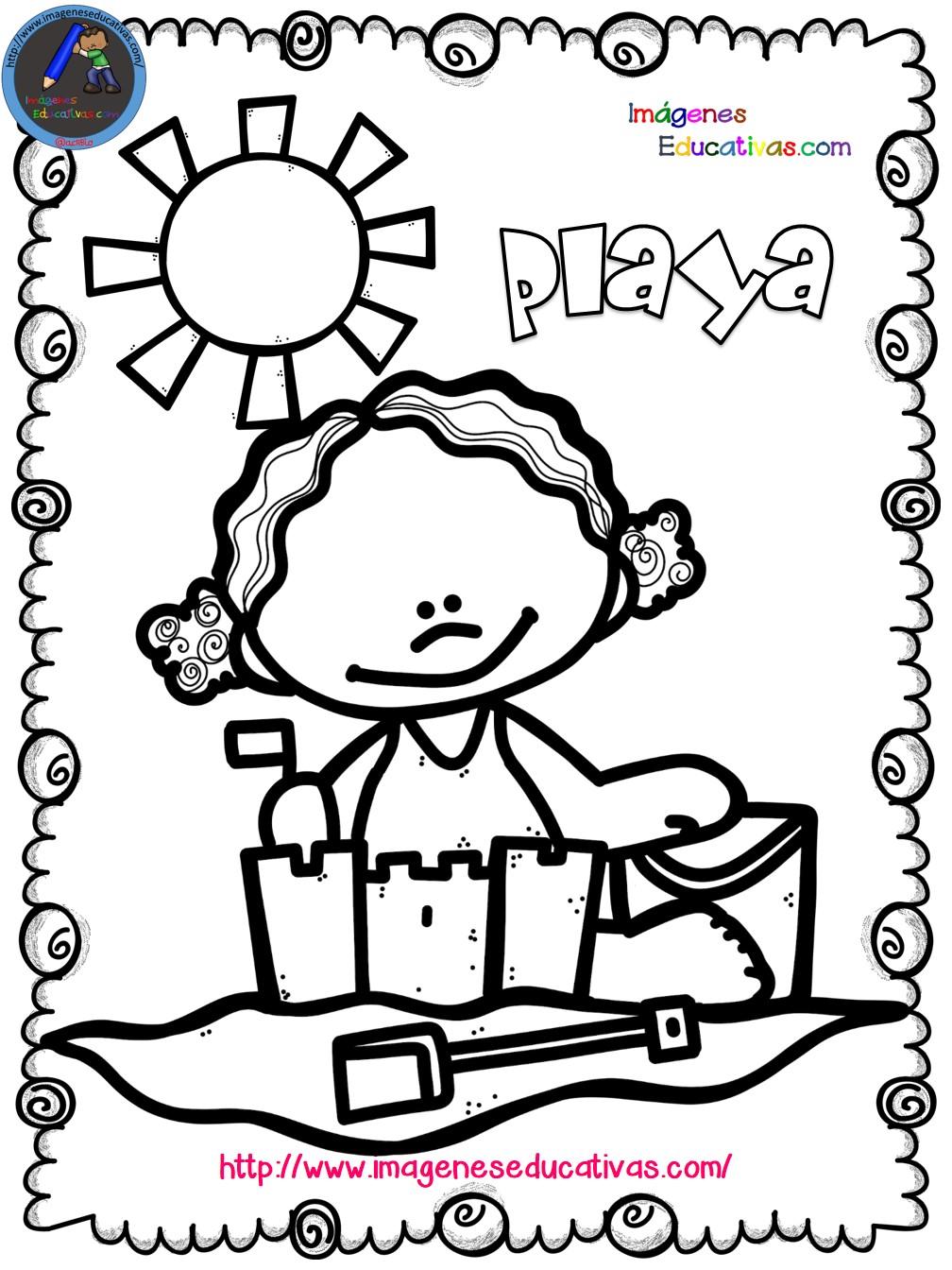 Mi libro para colorear en verano (6) - Imagenes Educativas