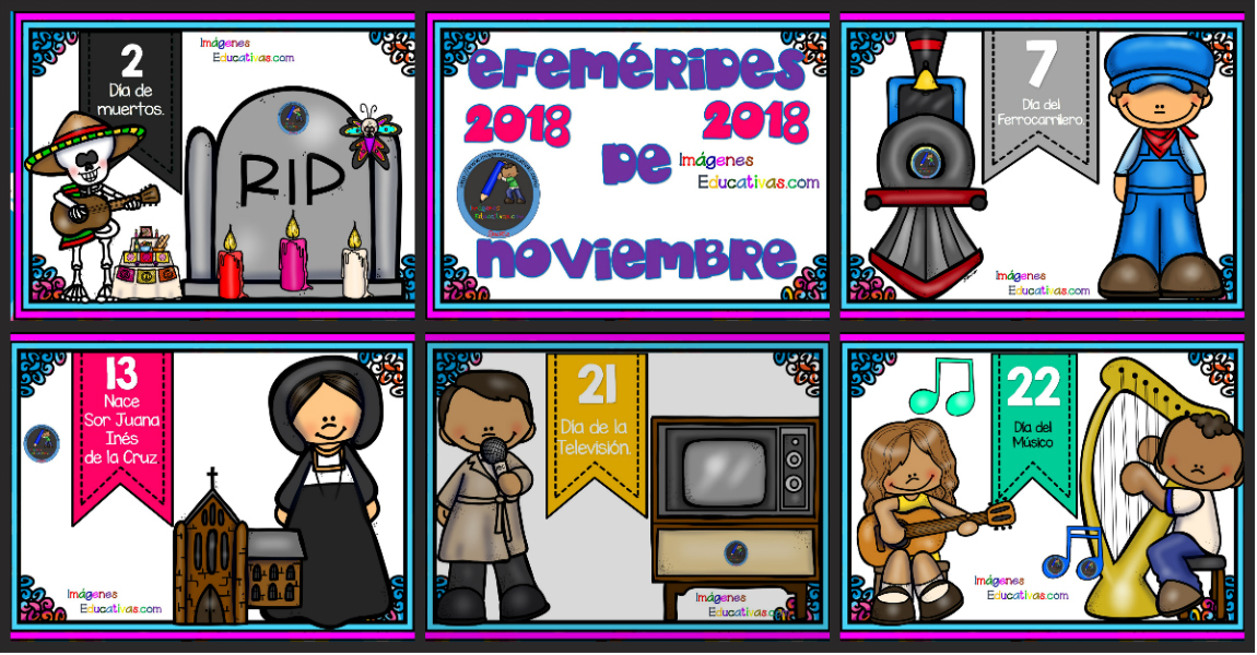Efemérides Mes De Noviembre 2018 Imagenes Educativas