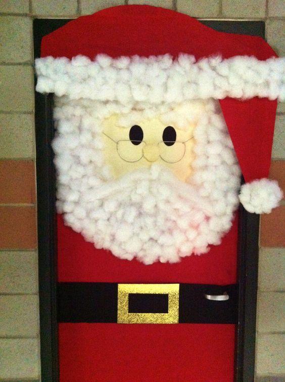 Puertas navidad 6 imagenes educativas for Puertas decoradas santa claus