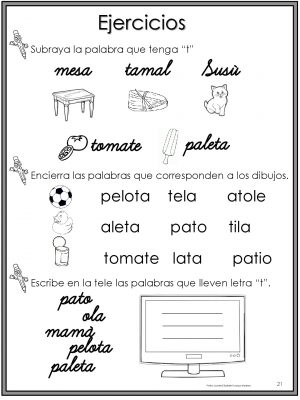 50 Ejercicios De Lecto Escritura Para Preescolar Y Primaria Imagenes Educativas
