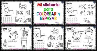 Mi Silabario Para Colorear Y Repasar Imagenes Educativas