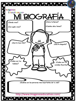 Pequeñas Autobiografías Para Niños De Infantil Y Primaria Orientacion Andujar
