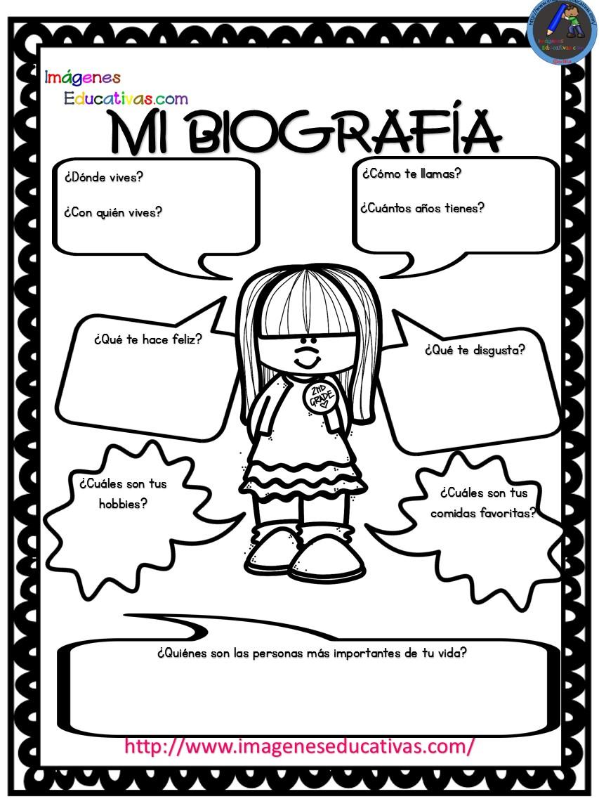 Autobiograf a para ni os primaria y primer grado 2 for Decoraciones infantiles para ninos