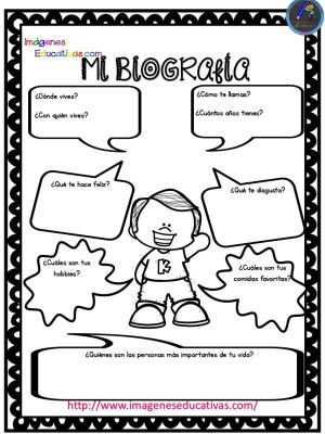 Pequeñas Autobiografías Para Niños De Infantil Y Primaria