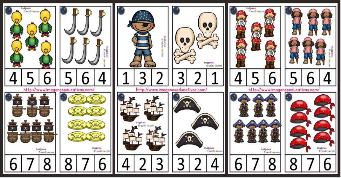 Tarjetas de asociación cantidad-grafía-imágen – Imagenes Educativas