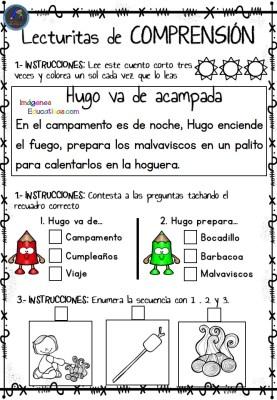 20388dc53 Infantil y primer ciclo de Primaria Lecturitas de comprensión ...