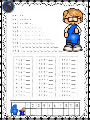 Hermosa Hojas De Las Tablas De Multiplicar Patrón - hojas de trabajo ...