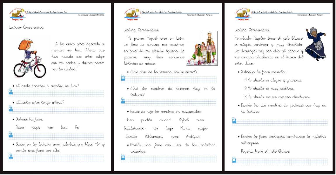 50 Fichas de Comprensión Lectora para Primer Ciclo de Primaria y ...