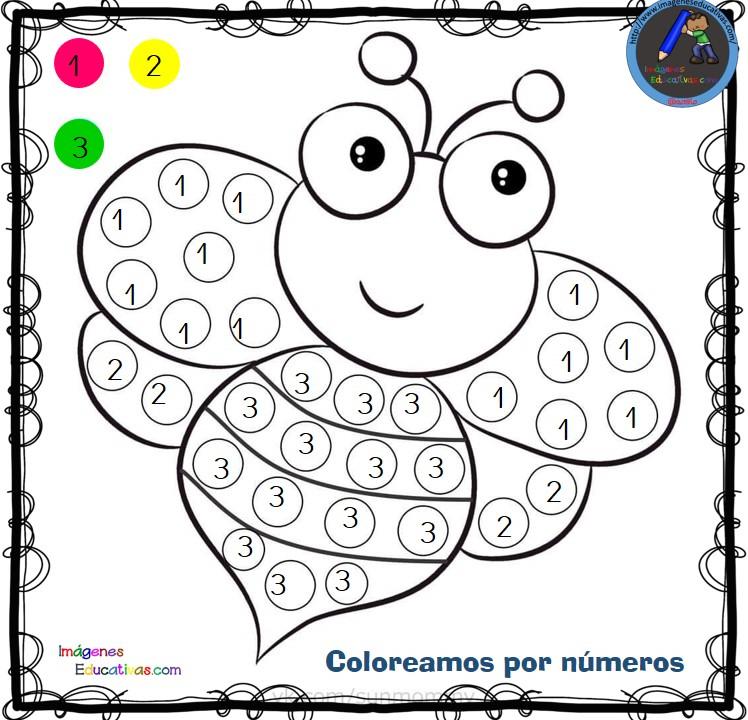 Fichas para colorear por letras, números y símbolos (1) - Imagenes ...
