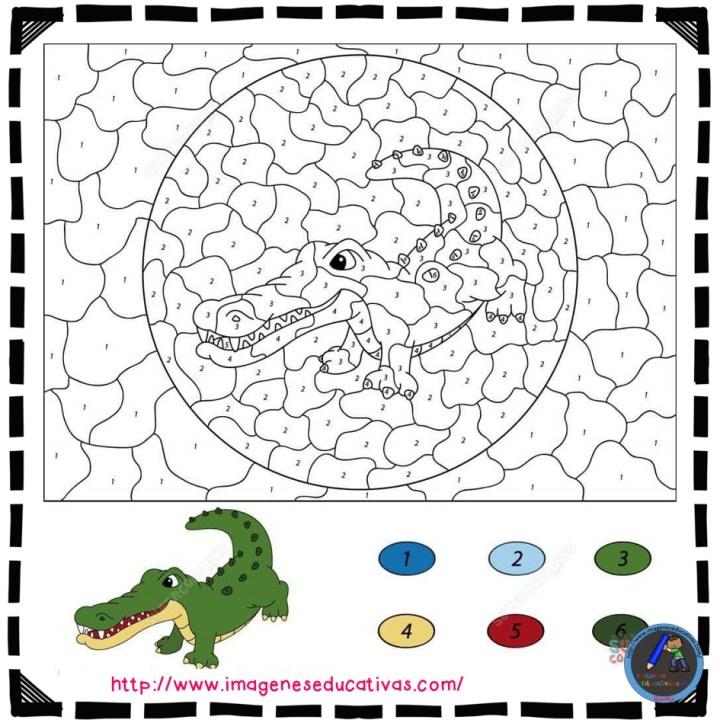 Fichas Para Colorear Por Números Imagenes Educativas
