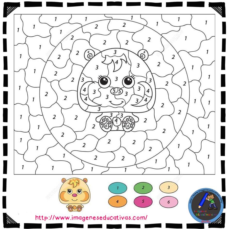Colorear por números (2) - Imagenes Educativas