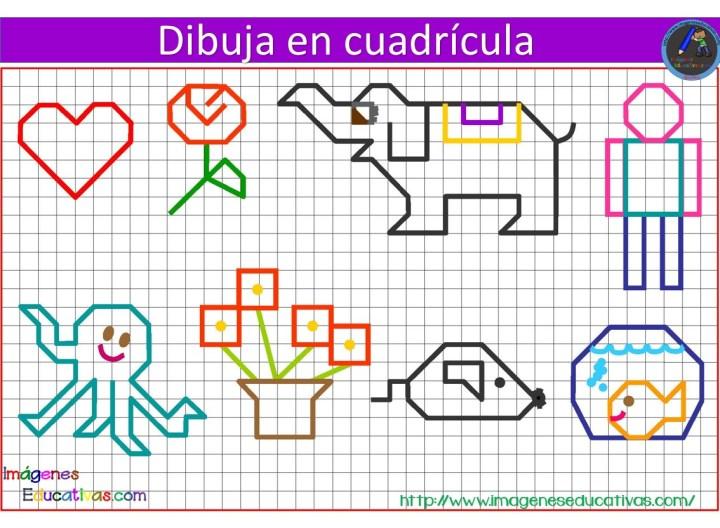 Libreta Para Niños Con 25 Dibujos Para Colorear: Dibujos Con Cuadrícula Para Niños