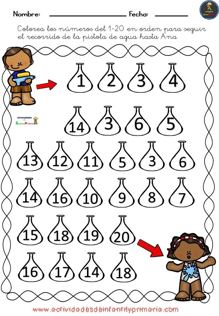 Laberintos Númericos Del 1 Al 20 4 Imagenes Educativas