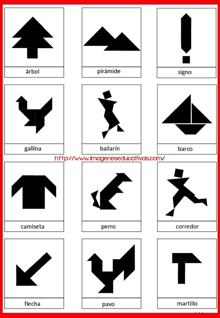 Tangram Figuras Para Imprimir Plantillas Incluidas Imagenes Educativas