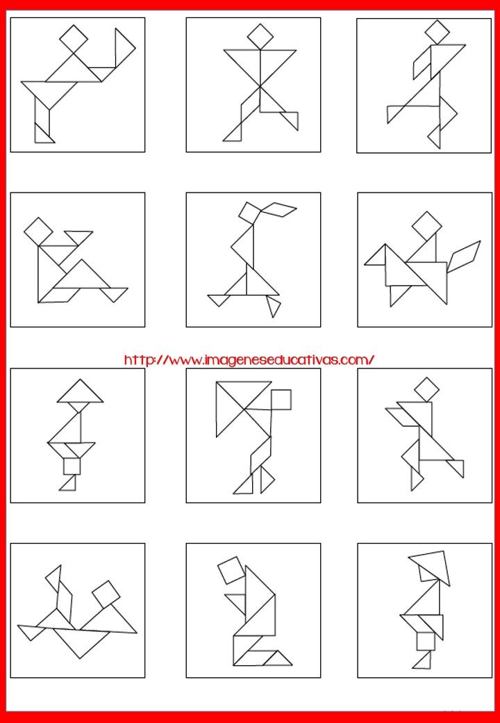 Tangram Figuras Para Imprimir Plantillas Incluidas