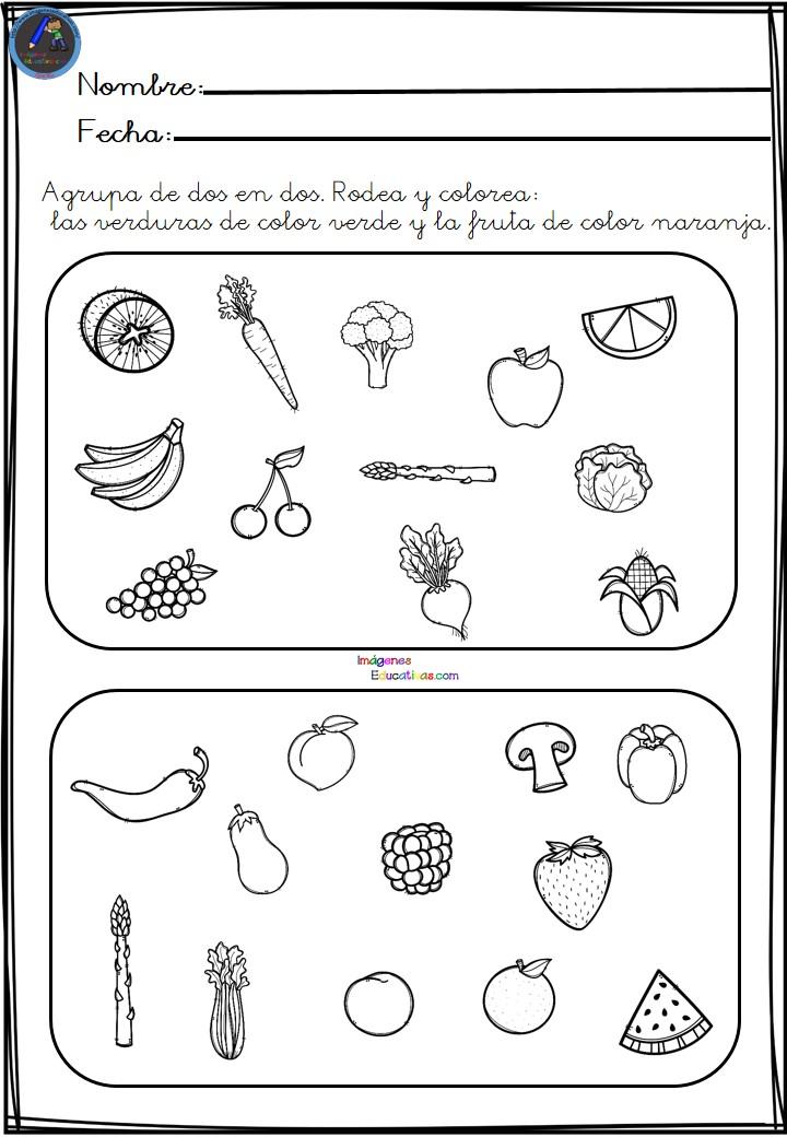 Fichas Para Aprender Agrupar Elementos Imagenes Educativas