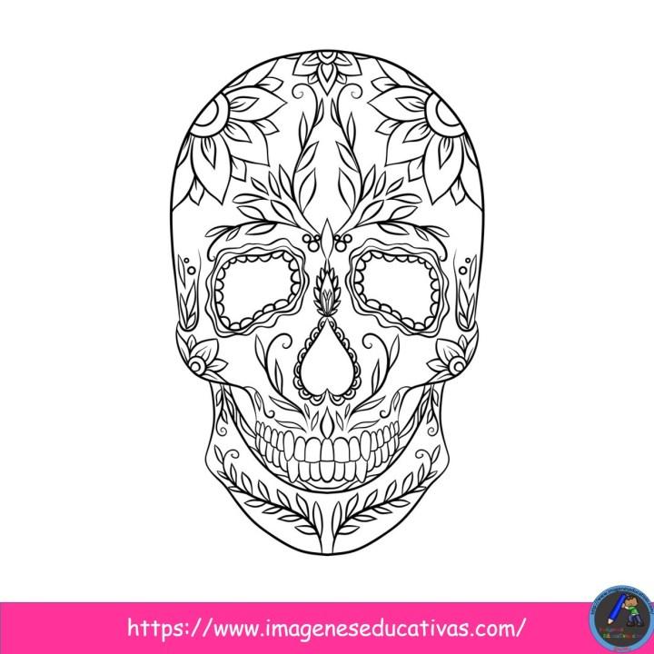 25 Mándalas Para Colorear El Día De Muertos Imagenes Educativas