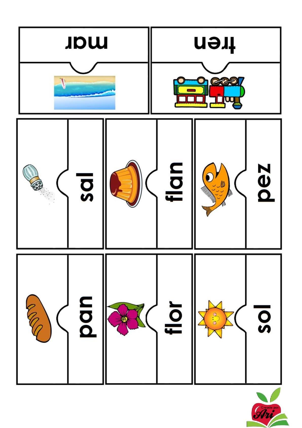 Rompecabezas silábico (4) - Imagenes Educativas