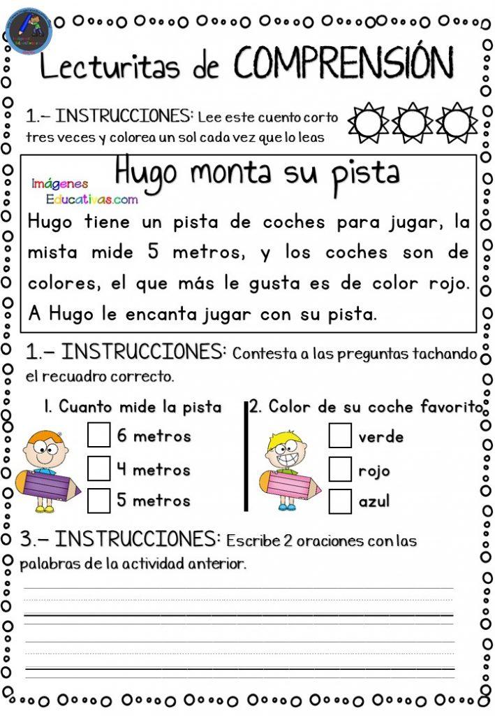 97544a6bd Comprensión lectora con minifichas para Infantil y primer ciclo de ...