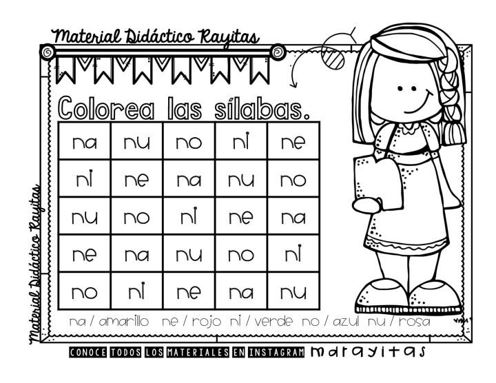 Sopas De Letras Para Practicar Las Sílabas Simples