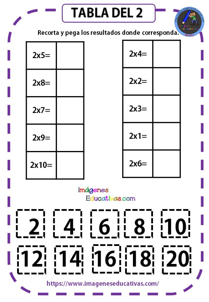 Mi Cuadernillo De Las Tablas De Multiplicar Imagenes Educativas