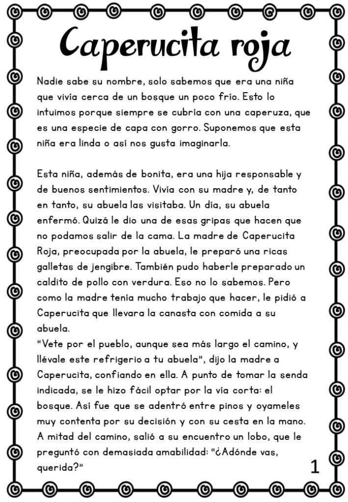 CUENTOS CLÁSICOS Ejercicios de COMPRENSIÓN LECTORA para ...