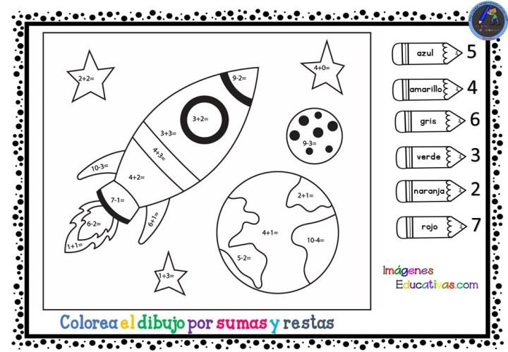 Fichas Colorea Por Sumas Y Restas Imagenes Educativas