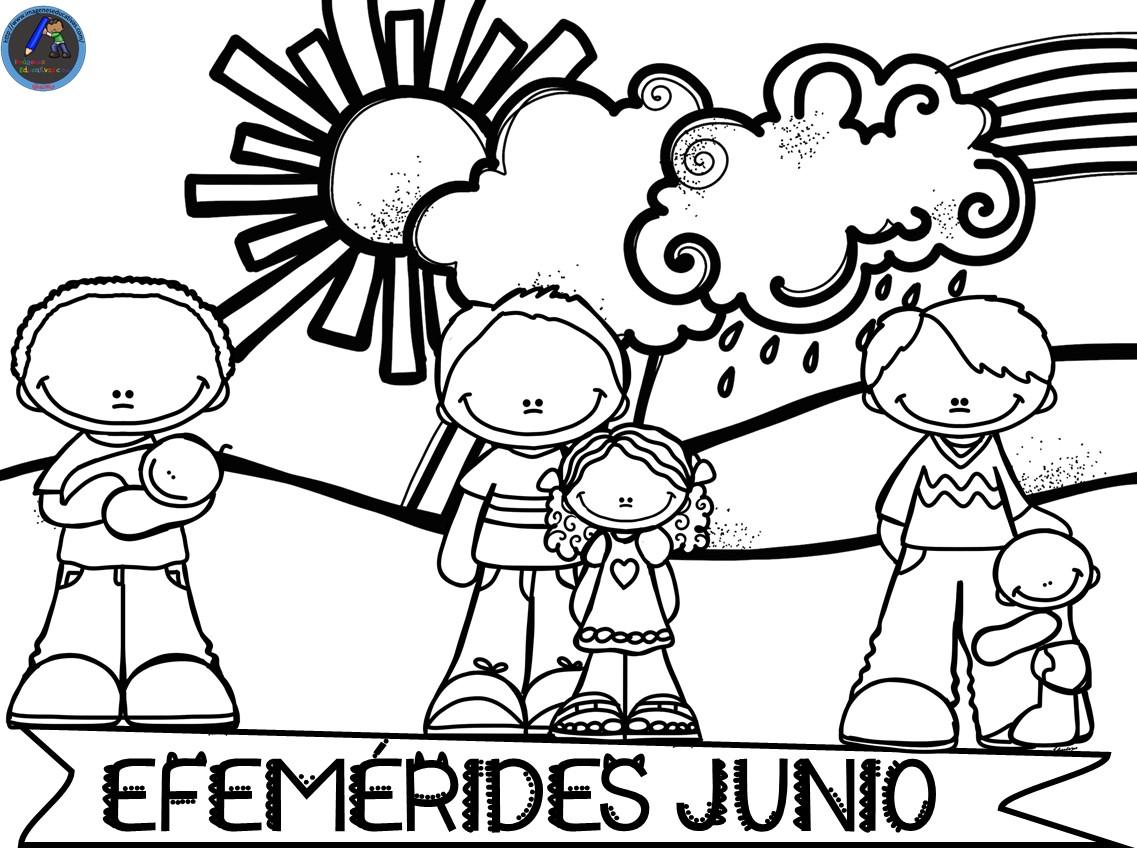 Nuevas De Efemérides Mes De Junio 2019 Byn Y Color