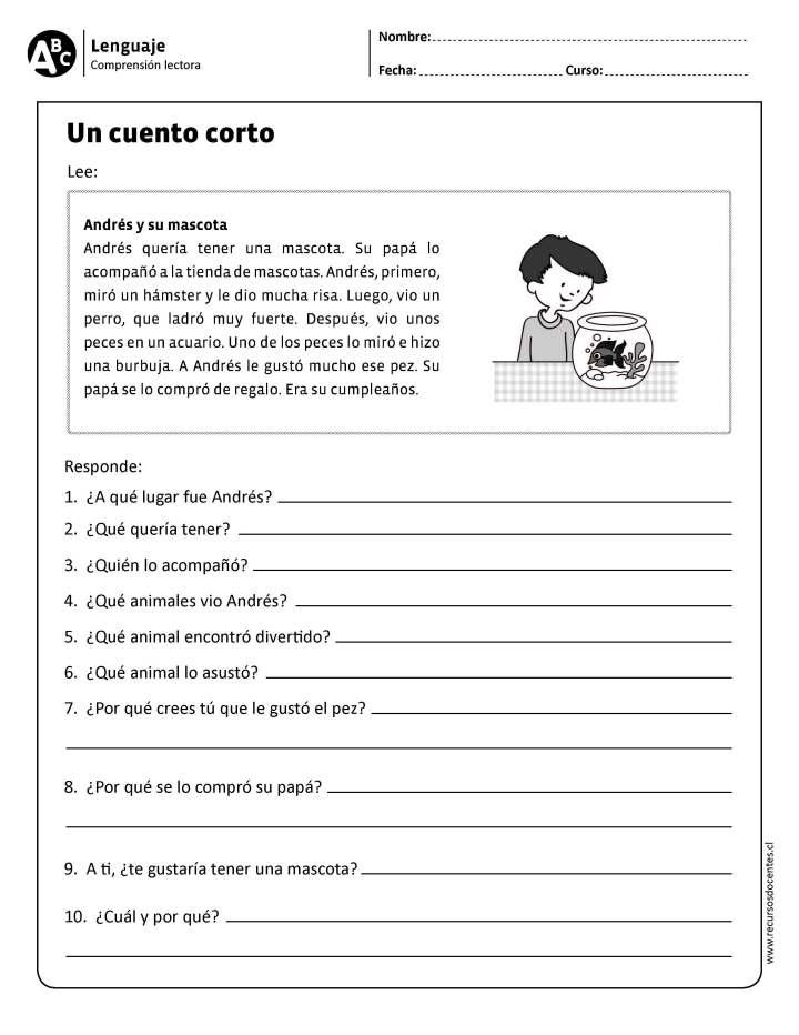 50 Ejercicios De Comprensión Lectora Para Primaria Y Primer Grado Imagenes Educativas