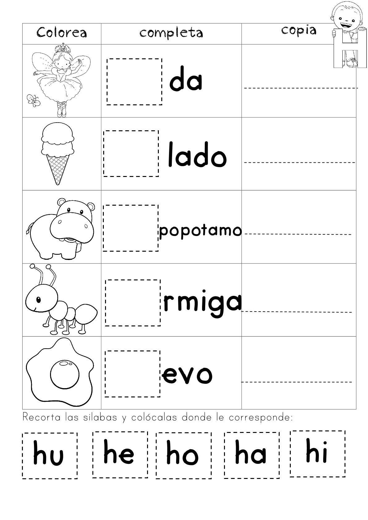 Mi Cuadernillo De Silabas Ie Pagina 16 Imagenes Educativas