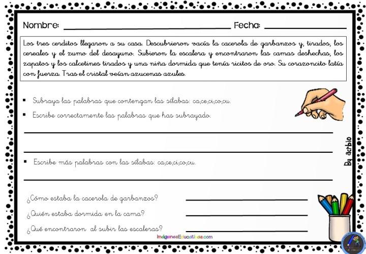 Actividades Para Practicar Ortografía Y Caligrafía Imagenes Educativas