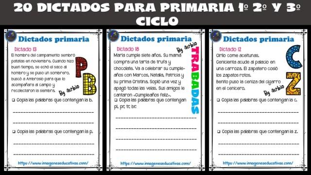 20 Dictados Para Primaria 1º 2º Y 3º Ciclo Imagenes Educativas