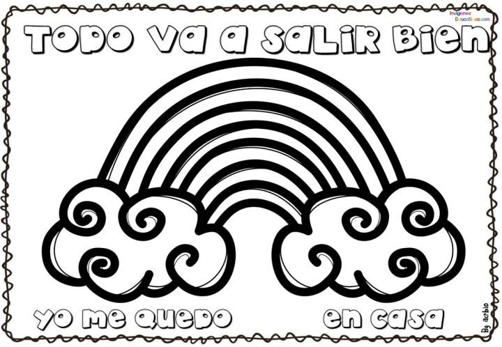 Plantillas dibujos de arcoíris en balcones #yomequedoencasa ...