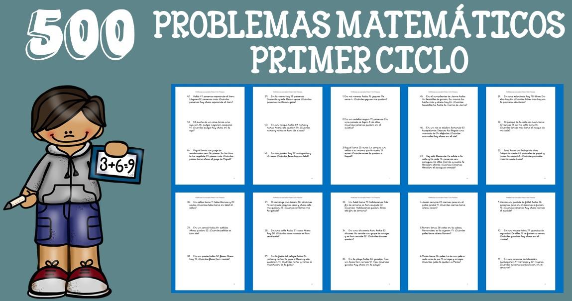 500 Problemas Matemáticos Para Primer Grado De Primaria Imagenes Educativas
