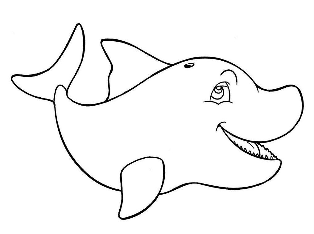 Dibujos Infantiles Para Colorear Tiburones