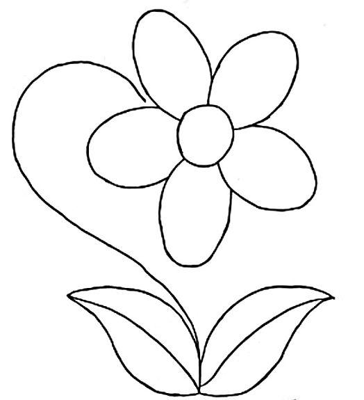 Flores Animadas Para Colorear