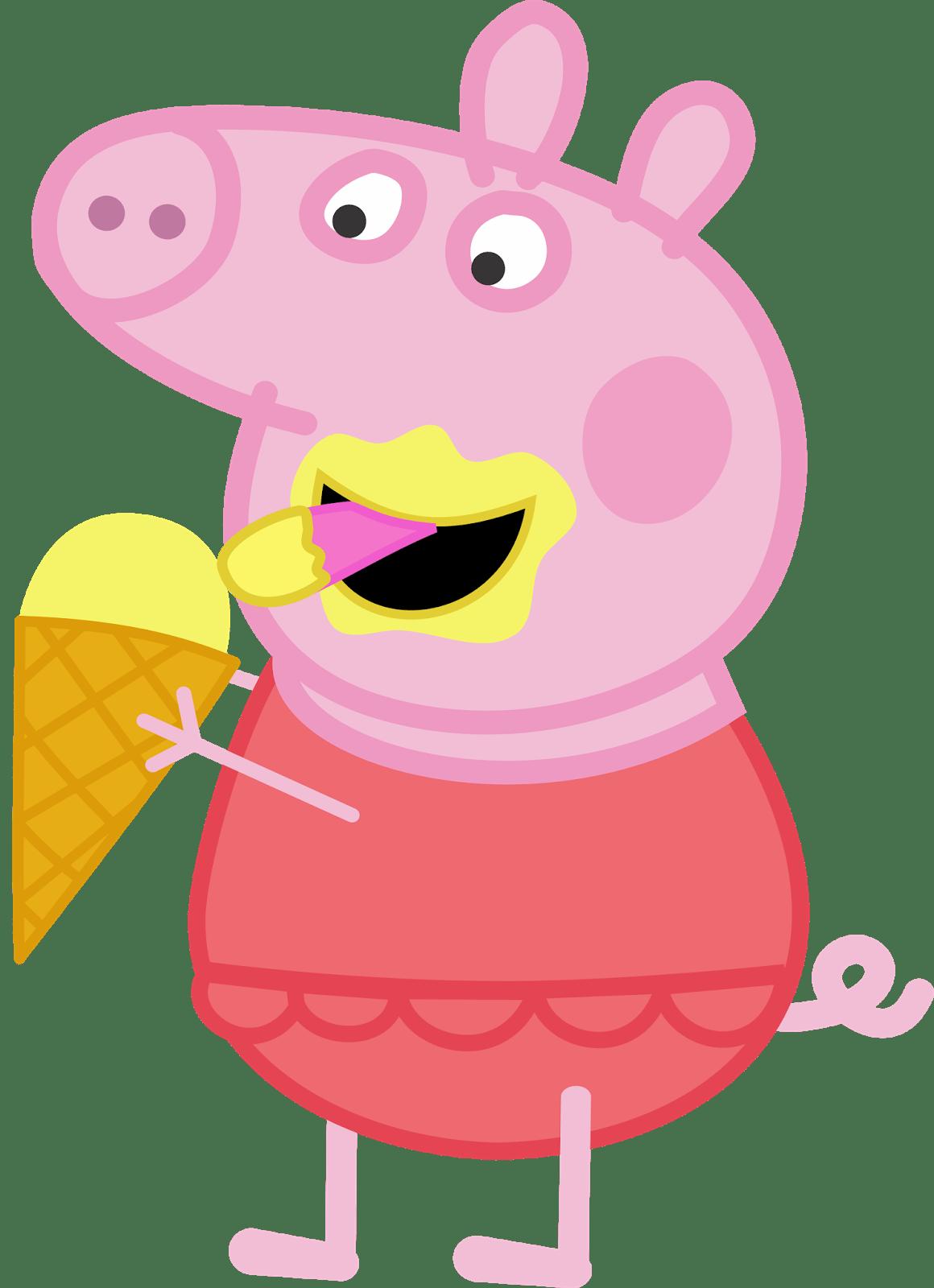 Peppa Pig Sorvete 01  Imagens PNG